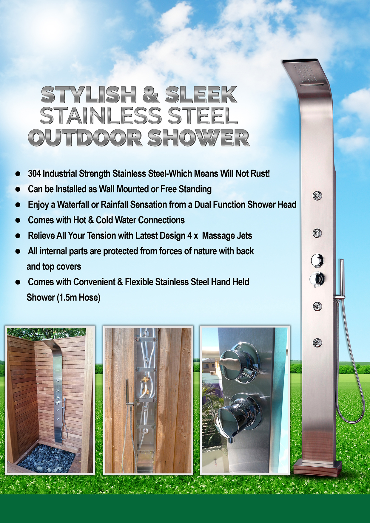 AUCTION BRIGHTON OUTDOOR SHOWER