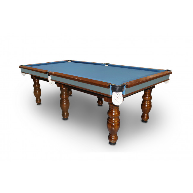 7 39 slate elite billiards pool table with 4 round legs for Circular pool table