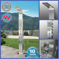 316 Marine Grade Watermarked Brighton Stainless Steel Outdoor Indoor Massage Shower