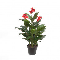 NWTURF Artificial CANNA PLANT 1.2M WITH 45 LEAVES Indoor Outdoor Plastic Plant