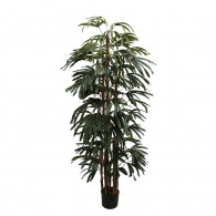 NWTURF Artificial RAPHIS PALM 1.8M WITH 530 LEAVES Indoor Outdoor Plastic Plant