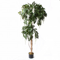 NWTURF Artificial WISTERIA TREE 1.9M WITH 2000 LEAVES Indoor Outdoor Plastic Plant