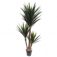 NWTURF Artificial YUCCA TREE 1.6M WITH 127 LEAVES POTTED Indoor Outdoor Plastic Plant