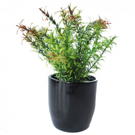 NWTURF ARTIFICIAL TWO TONE MINI BUSH 29CM COMPLETE IN FIBREGLASS POT