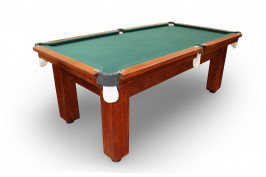 7' Natural Slate Premier Billiards/Pool Table 4 Square Legs