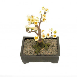 Artificial BONSAI BLOSSOM 15CM POTTED Indoor Outdoor Plastic Plant