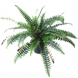 NWTURF ARTIFICIAL BOSTON FERN 40CM COMPLETE IN FIBREGLASS POT