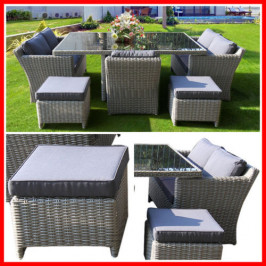 NEW! BEAUTIFUL 7 PIECE WICKER OUTDOOR SETTING! ELW