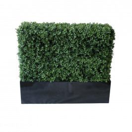 NWTURF PREMIUM DELUXE BOXWOOD HEDGE 120 WIDE X 95CM TALL WITH FIBREGLASS TROUGH
