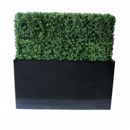 NWTURF PREMIUM DELUXE BOXWOOD HEDGE 120 WIDE X 115CM TALL WITH FIBREGLASS TROUGH