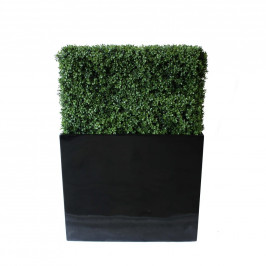 NWTURF PREMIUM DELUXE BOXWOOD HEDGE 90 WIDE X 125CM TALL WITH FIBREGLASS TROUGH