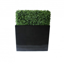NWTURF PREMIUM DELUXE BOXWOOD HEDGE 90 WIDE X 126CM TALL WITH FIBREGLASS TROUGH