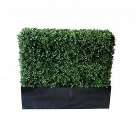 NWTURF PREMIUM DELUXE BOXWOOD HEDGE 90 WIDE X 95CM TALL WITH FIBREGLASS TROUGH