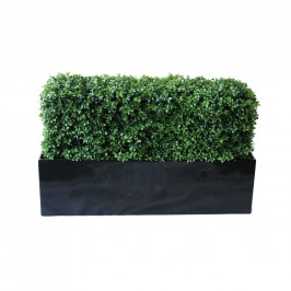 NWTURF PREMIUM DELUXE BOXWOOD HEDGE 90 WIDE X 55CM TALL WITH FIBREGLASS TROUGH