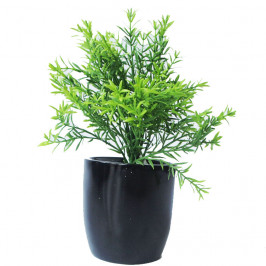 NWTURF ARTIFICIAL ROSEMARY BUSH 27CM COMPLETE IN FIBREGLASS POT