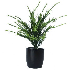 NWTURF ARTIFICIAL THYME BUSH 34CM COMPLETE IN FIBREGLASS POT