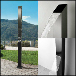 PRE-SALE! 316 Marine Grade Watermark Registered Toorak BLACK Stainless Steel Outdoor Indoor Pool Shower